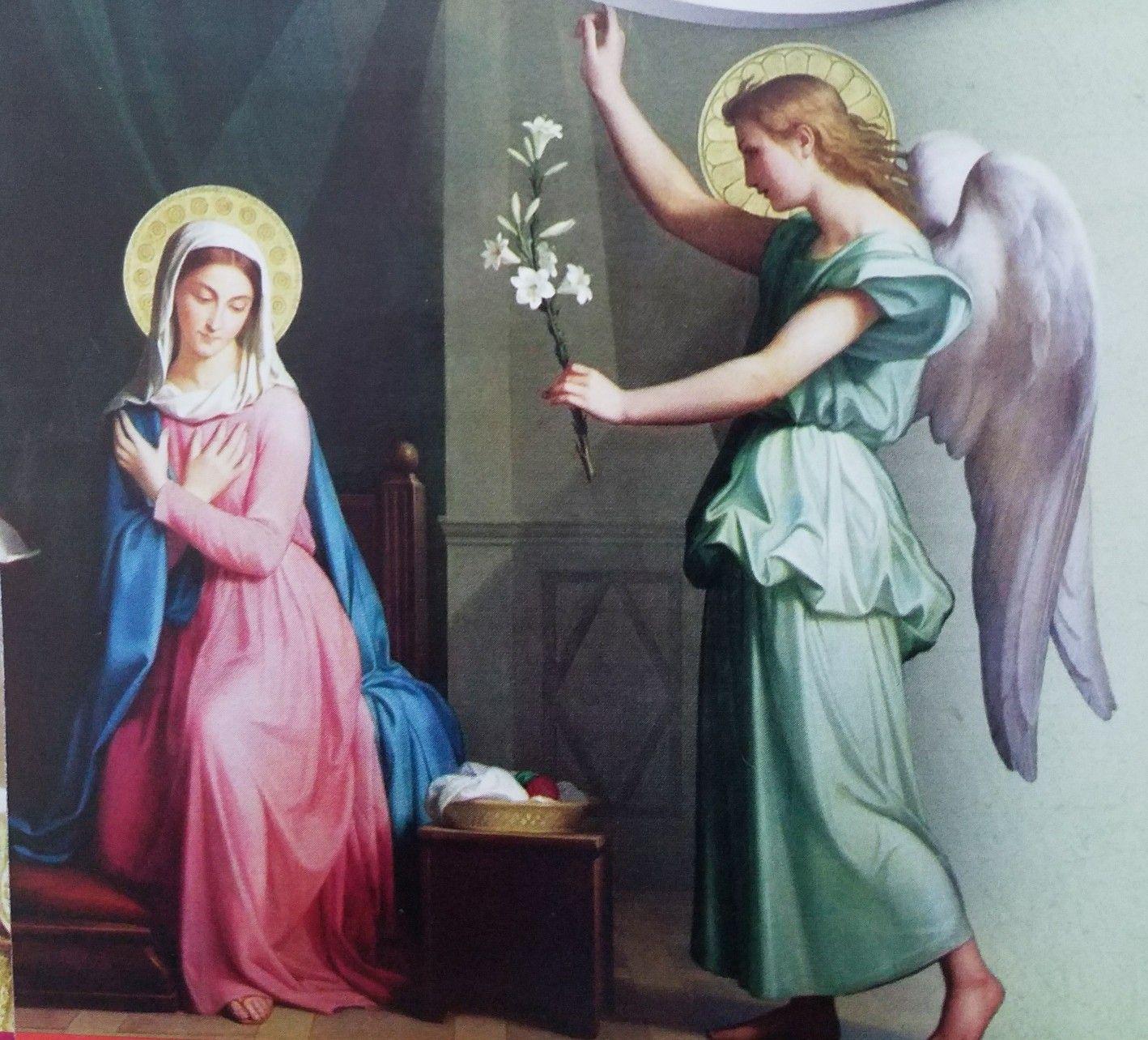Anunciacion Del Arcangel Gabriel A La Santisima Virgen Maria Ave
