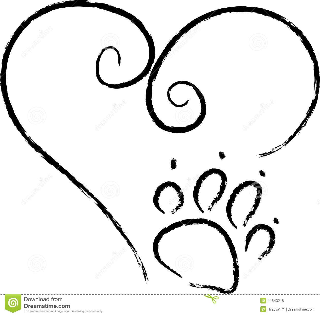 Easy Drawing Of A Dog Paw Dog Drawings Clip Art Clipart Best