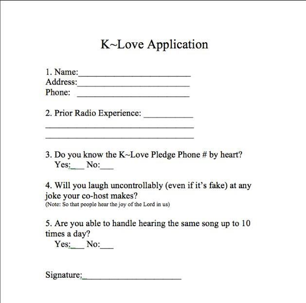 That's not a real application. You'd have to hear the same