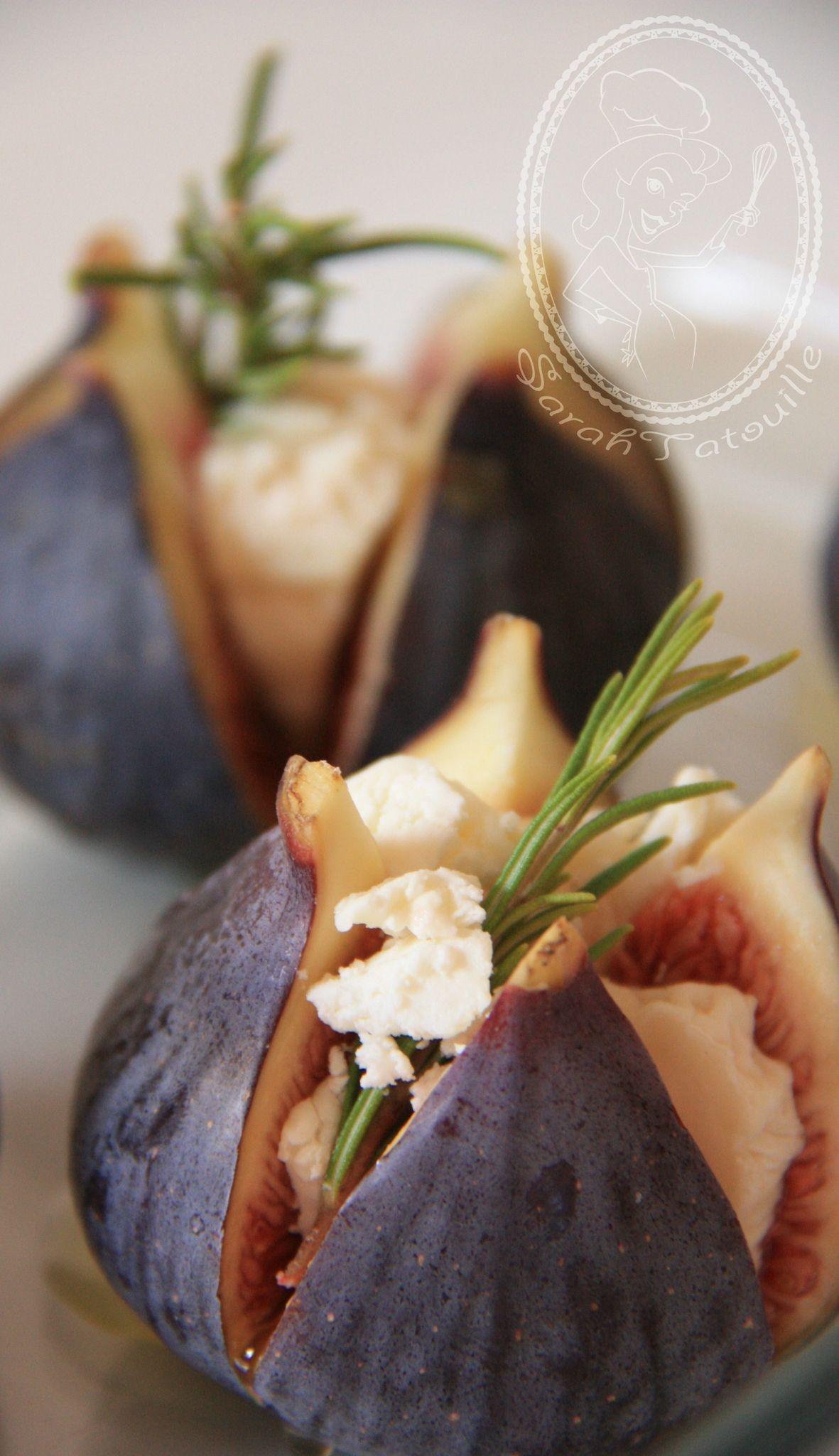 Figues roties au chevre miel et romarin sarah tatouille - Cuisiner des figues fraiches ...