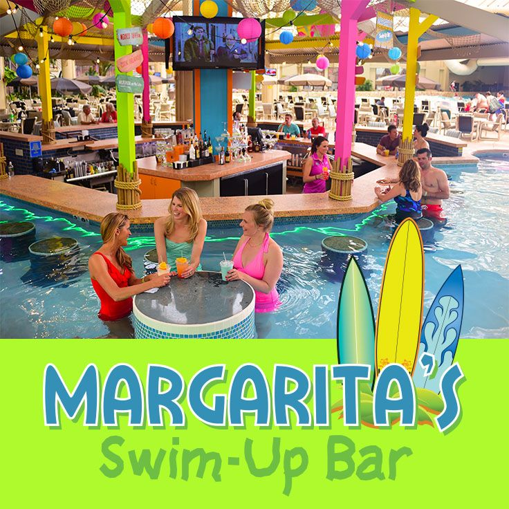 Located Inside The Wild Waterdome Be Sure To Make Time To Take A Dip And Get A Drink At Margarita S Swim Up Ba Swim Up Bar Wisconsin Dells Indoor Outdoor Pool
