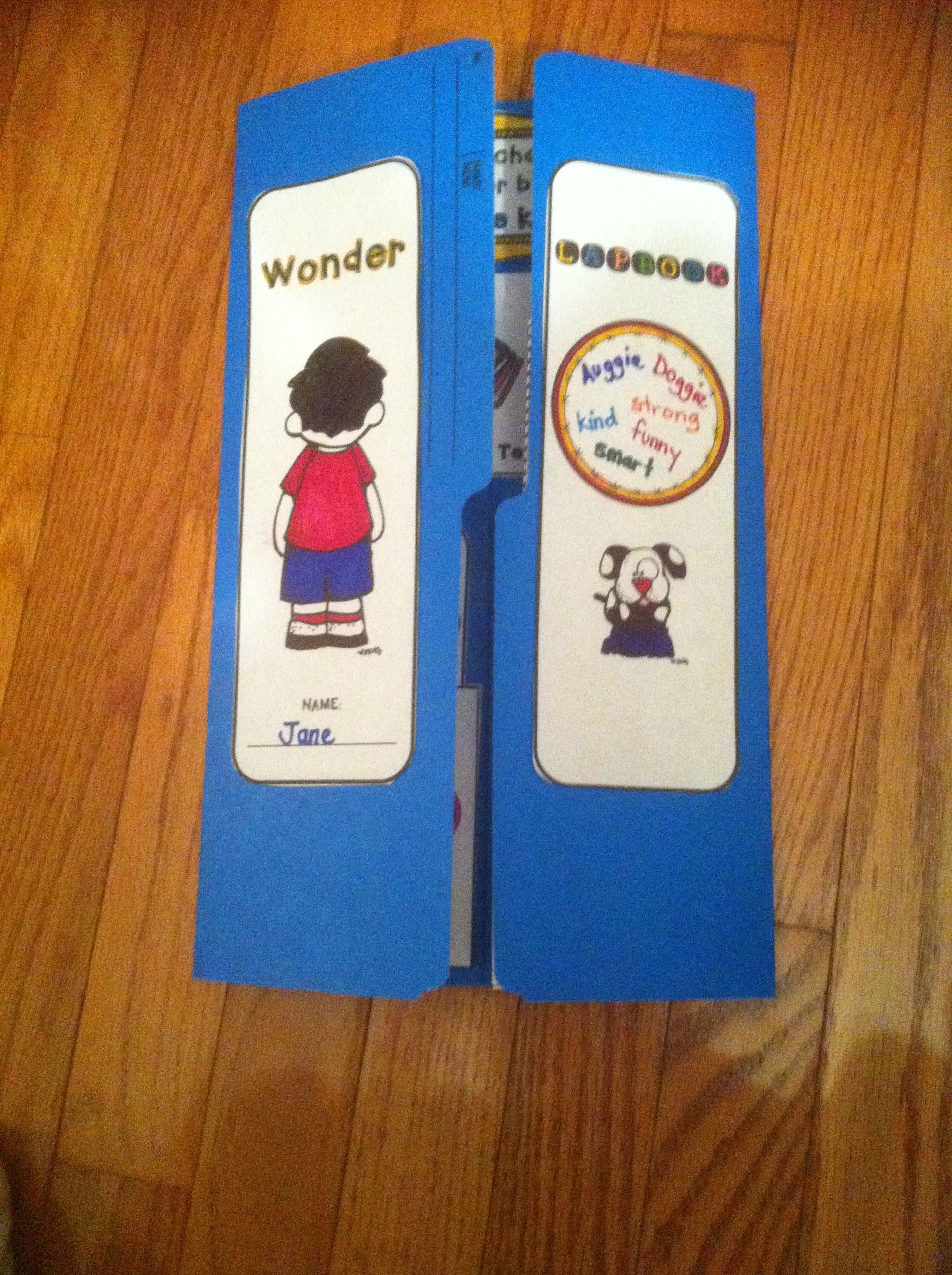 Wonder By R J Palacio Lapbook Teaching Wonder Wonder
