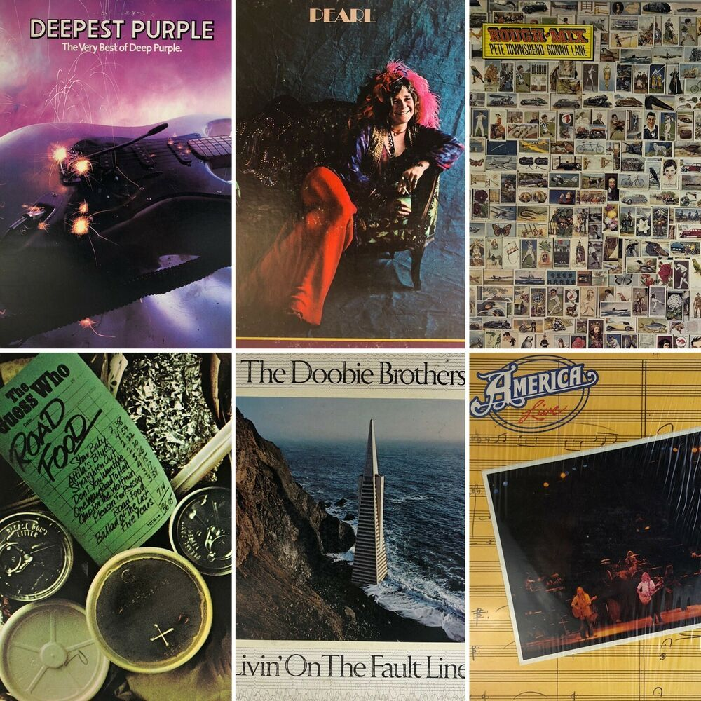 Details About Classic Rock Lp Lot Of 6 America Deep Purple Doobie Rough Mix Janis Guess Who In 2020 Deep Purple Classic Rock Guess