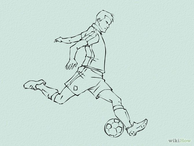 How To Draw Soccer Draw Soccer Players Step 5 Jpg Con Imagenes
