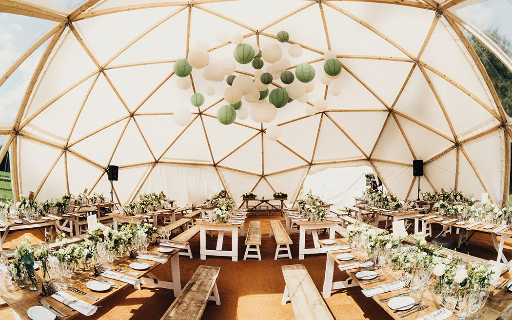 Unique Timber & Canvas Domes for Weddings Baya Hire