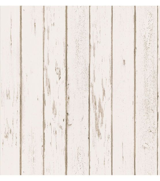Wallpaper Brown /& Beige Faux Country Wood Planks