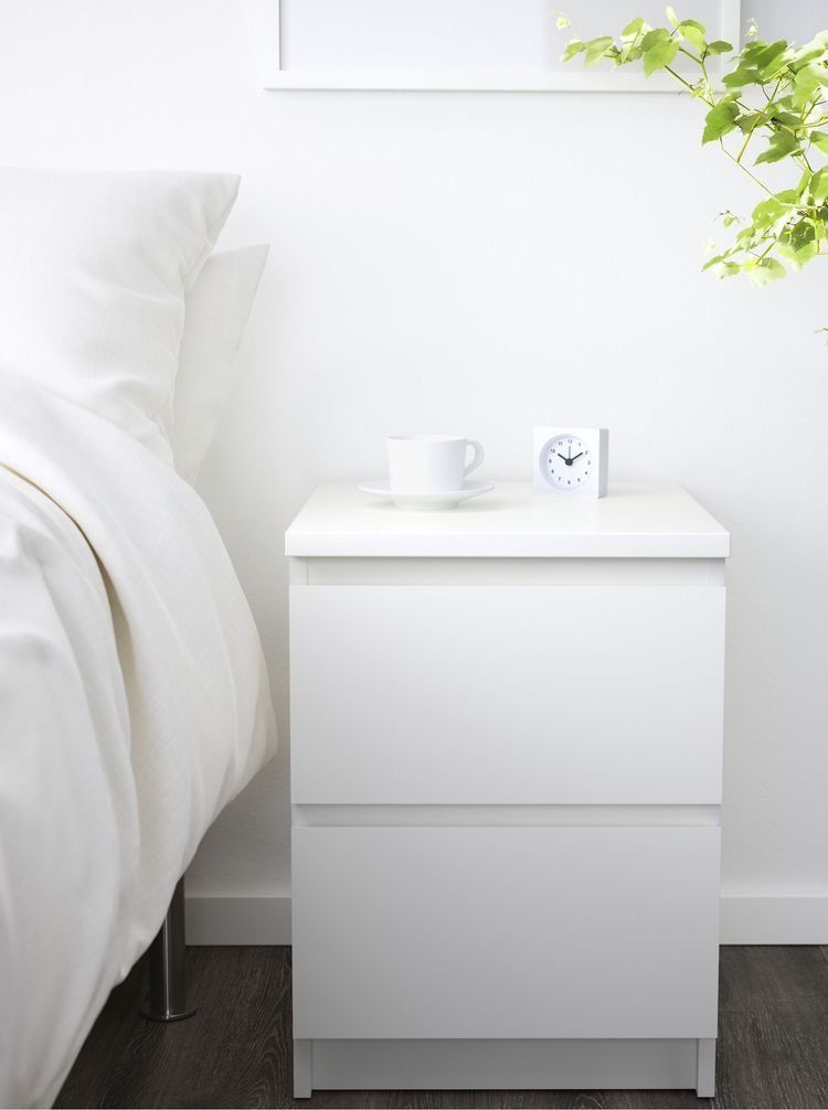 malm 2 drawer chest white 15 3 4x21 5 8 ikea drawers for sale kid friendly storage ottoman