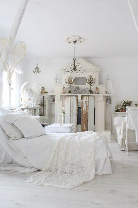 shabby chic bedroom schlafzimmer wei es wohnen white living home interi r sweet home. Black Bedroom Furniture Sets. Home Design Ideas