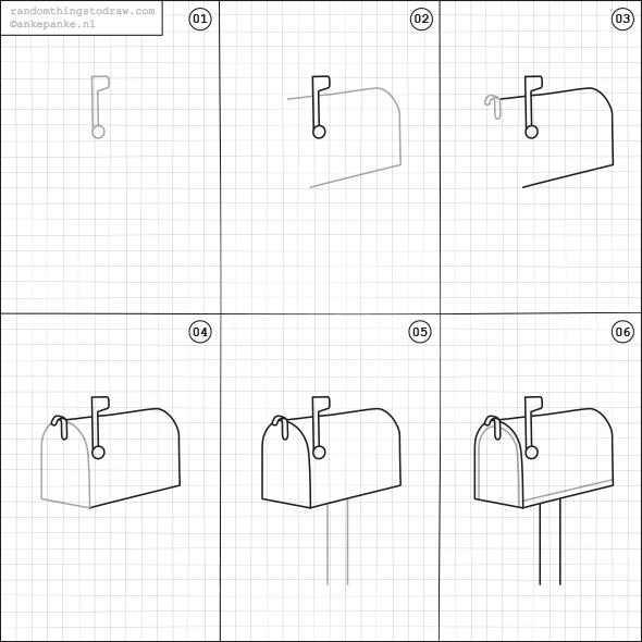 How to draw a mailbox. | Kids-learning to draw | Pinterest | Fun ...