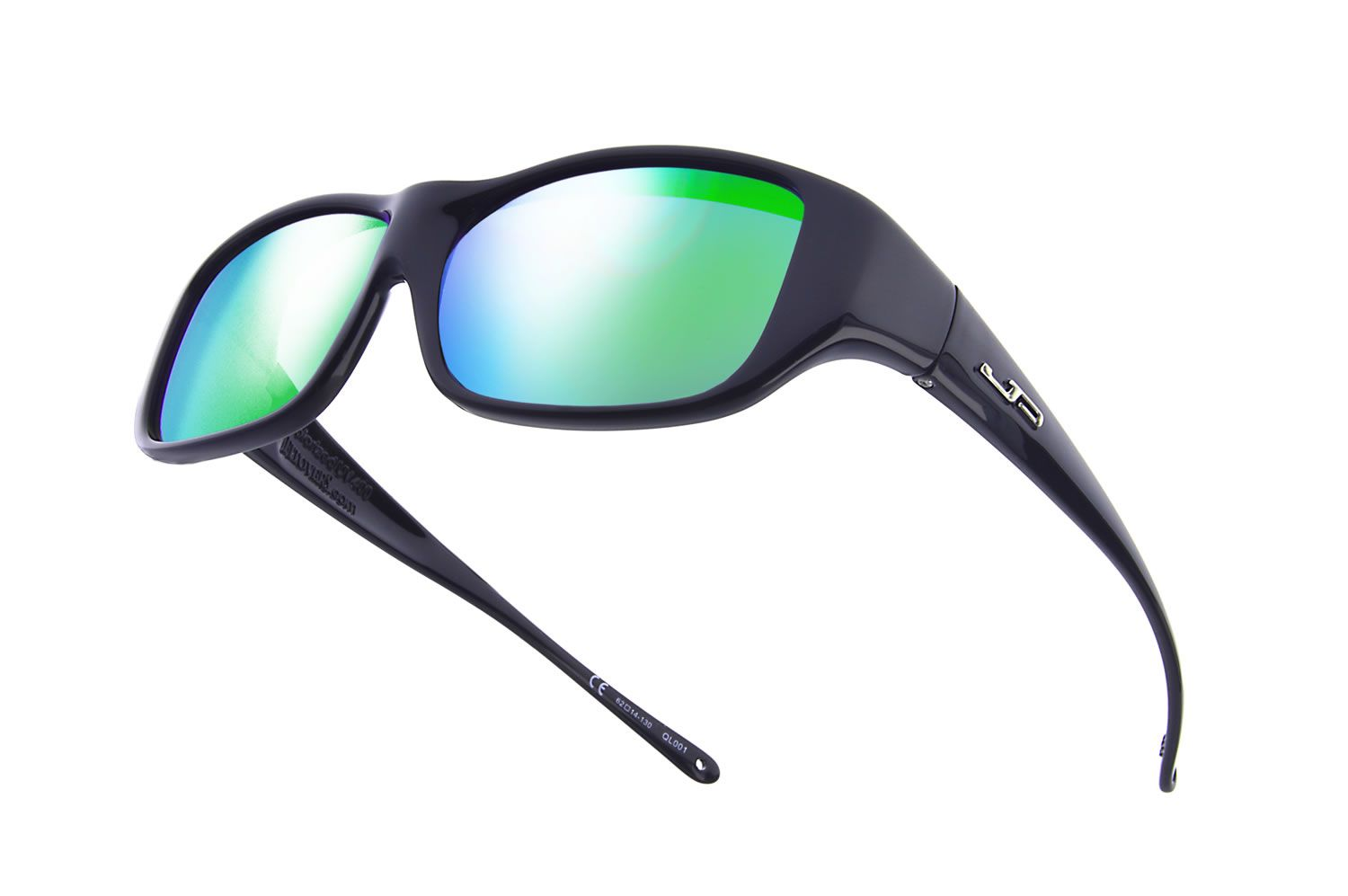 71f28d1f63 Quamby™ Eternal Black (Green Mirror) - the Fashionable Jonathan Paul® Fitovers  Eyewear