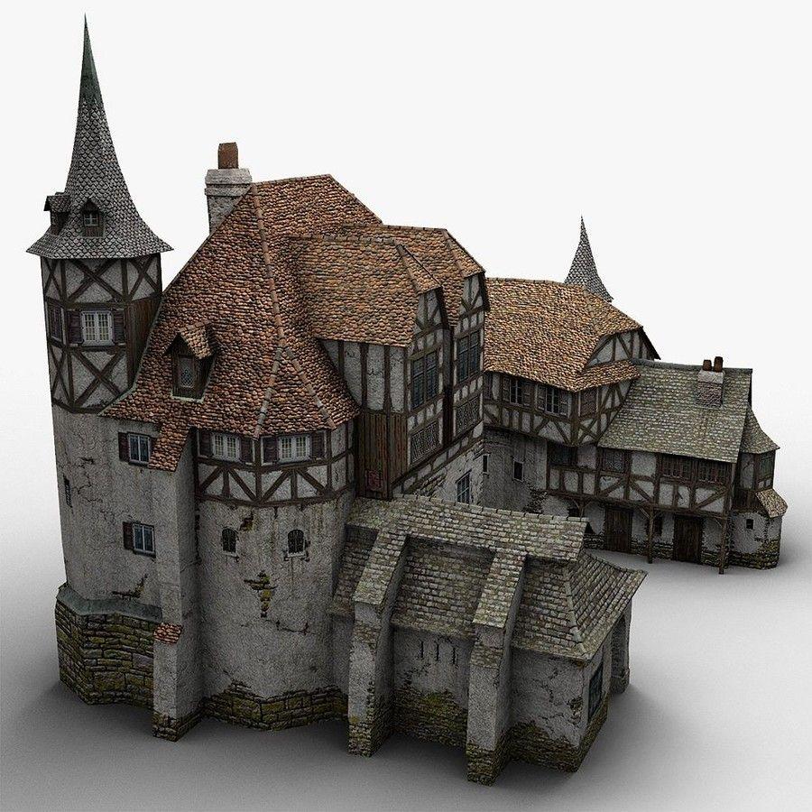 Old medieval warehouse 3d obj fachwerk pinterest for 3d fachwerk