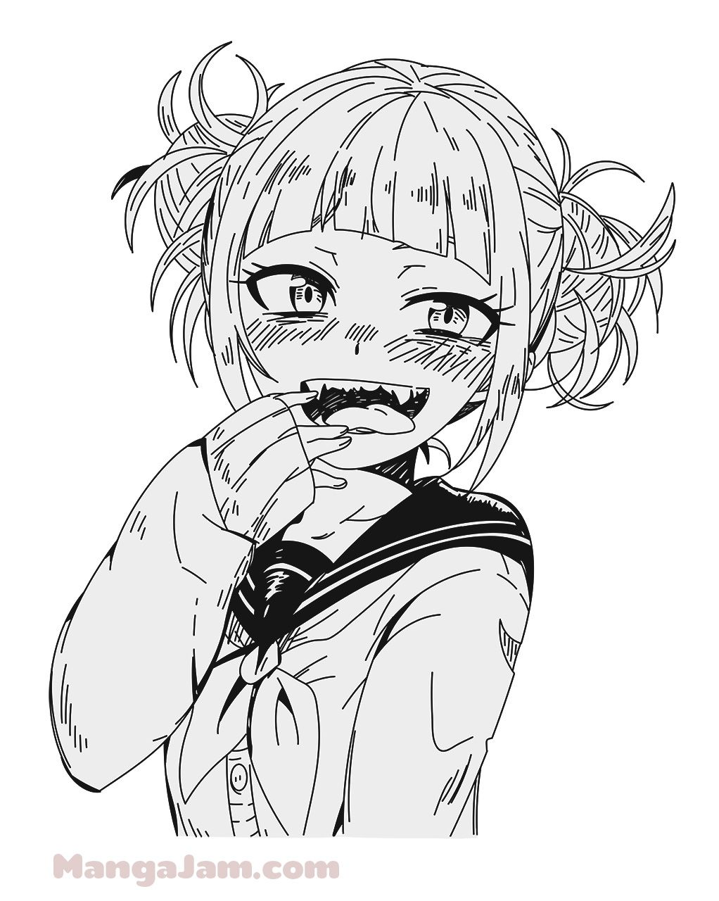 How To Draw Himiko Toga From My Hero Academia Mangajam Com In 2020 Anime Character Drawing Yandere Anime Anime Sketch