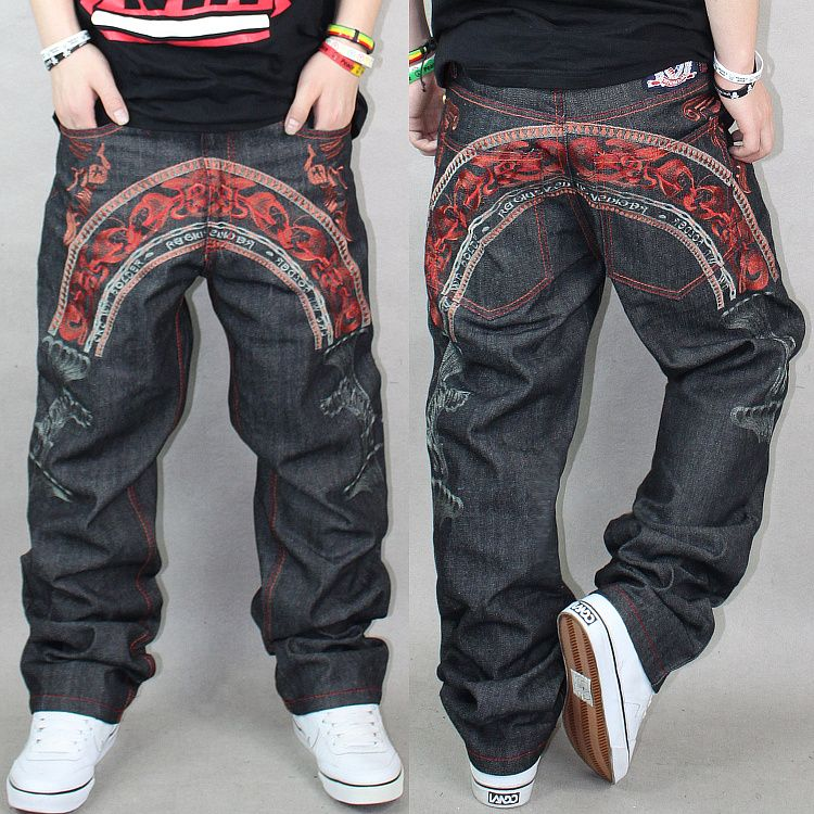 Hiphop Fashion Hiphop Jeans Men S Hiphop Hip Hop Jeans Trend Men S Clothing Ch Personality Embroidery Loose Designer Clothes For Men Hip Hop Jeans Mens Outfits