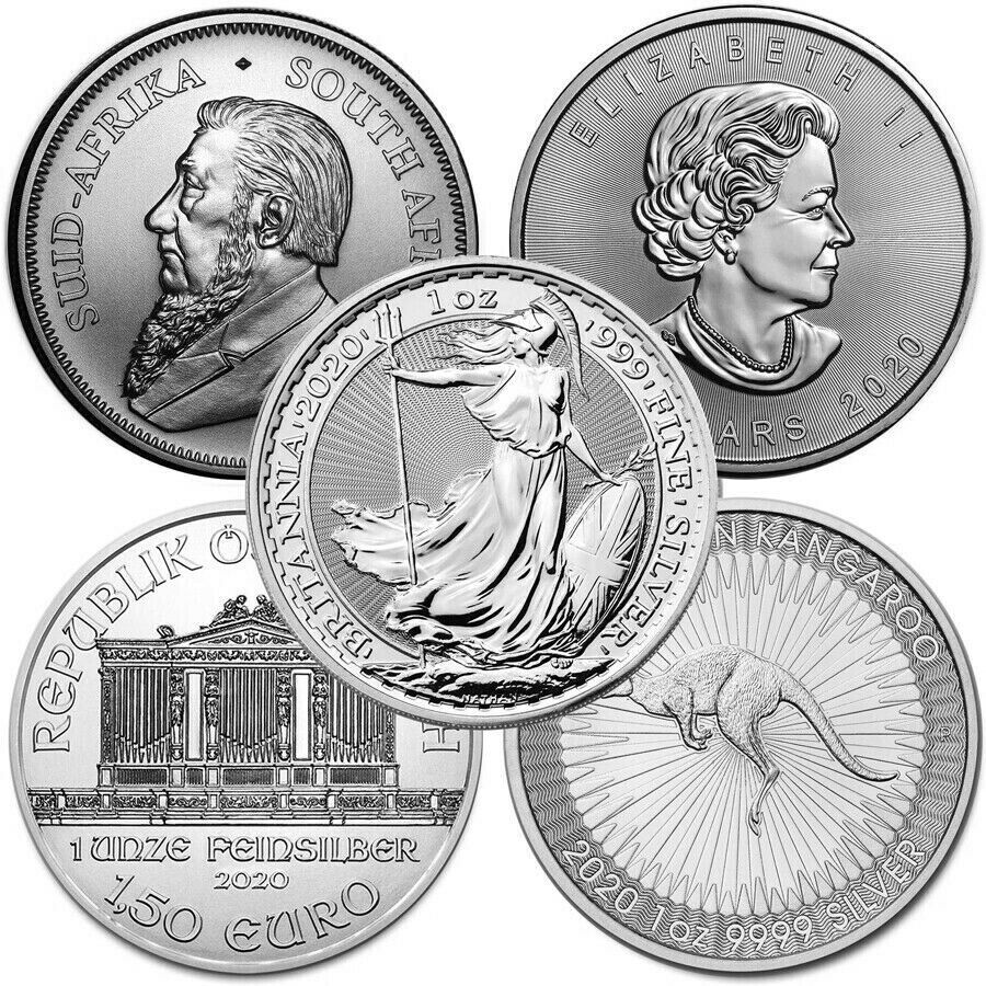 Lot Of 5 2020 1 Oz Silver Coins From Around The World Brilliant Uncirculated Ebay In 2020 Silver Coins Silver Eagle Coins Coins
