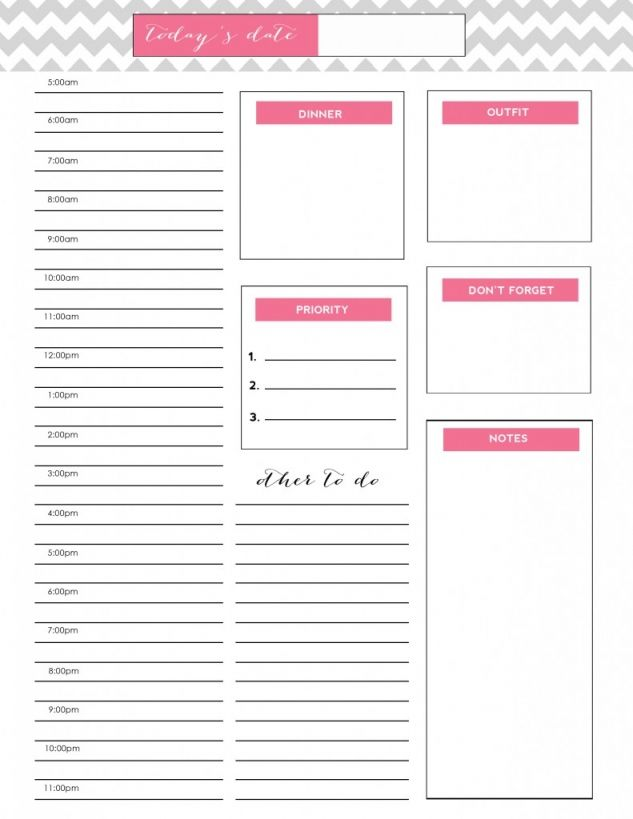 to do list {free printable} Daily docket, Organizing and Planners - printable day planner