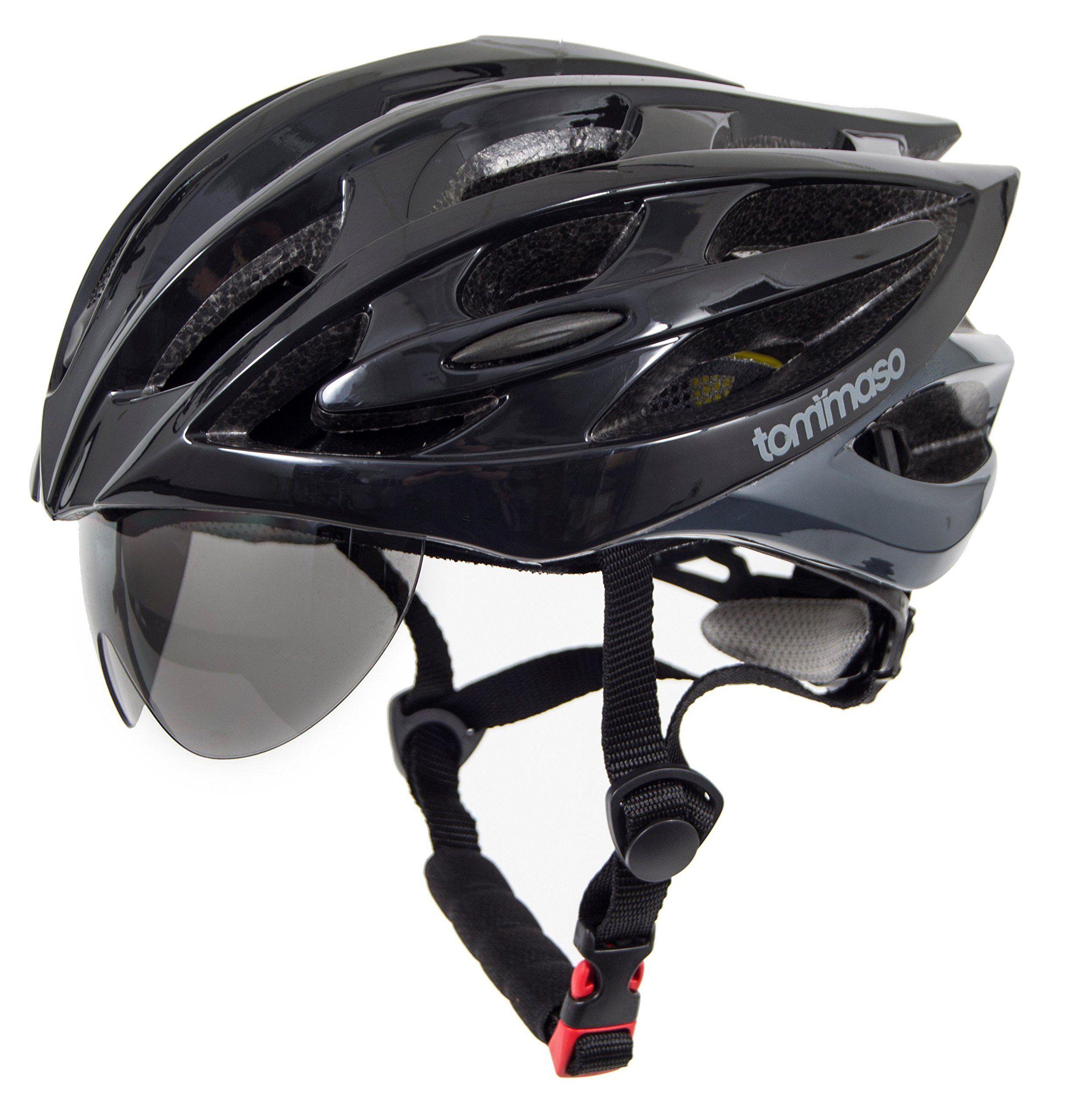 Tommaso Sole Lightweight Cycling Bike Helmet With Retractable Eye