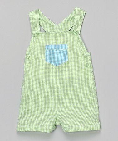 Loving this Kiwi Pocket Appliqué Shortalls - Infant on #zulily! #zulilyfinds