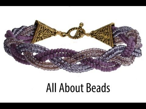 How to Make a Braided Bead Bracelet. #Seed #Bead #Tutorials