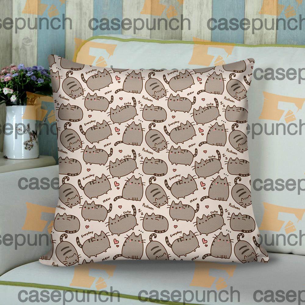 5d85a3def2d Sr1-pusheen Cat So Lazy Can't Move Cushion Pillow Case | CUSHION ...