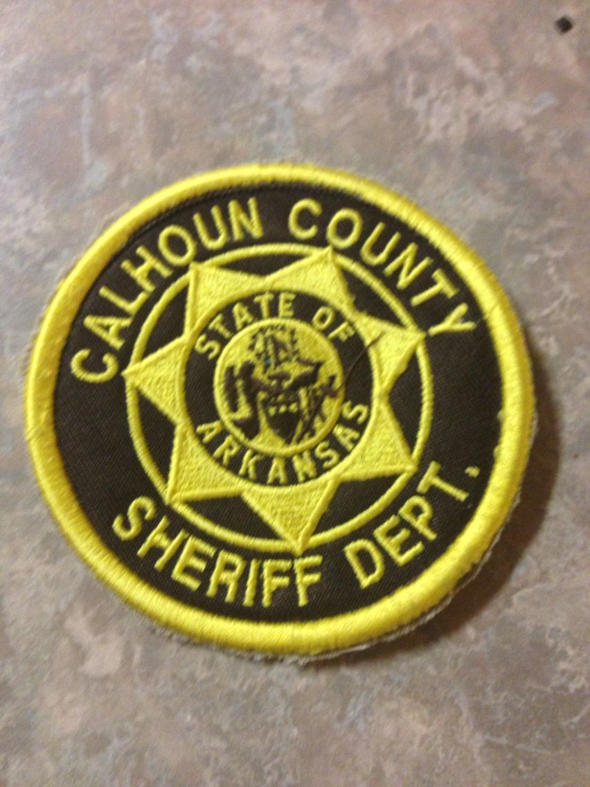 Calhoun County Sheriff Department Police patches