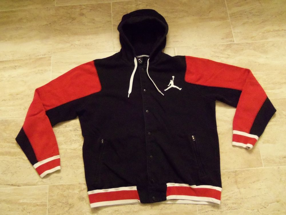 1f74d75fb45c5f Mens michael jordan full snap hoodie sz xl black