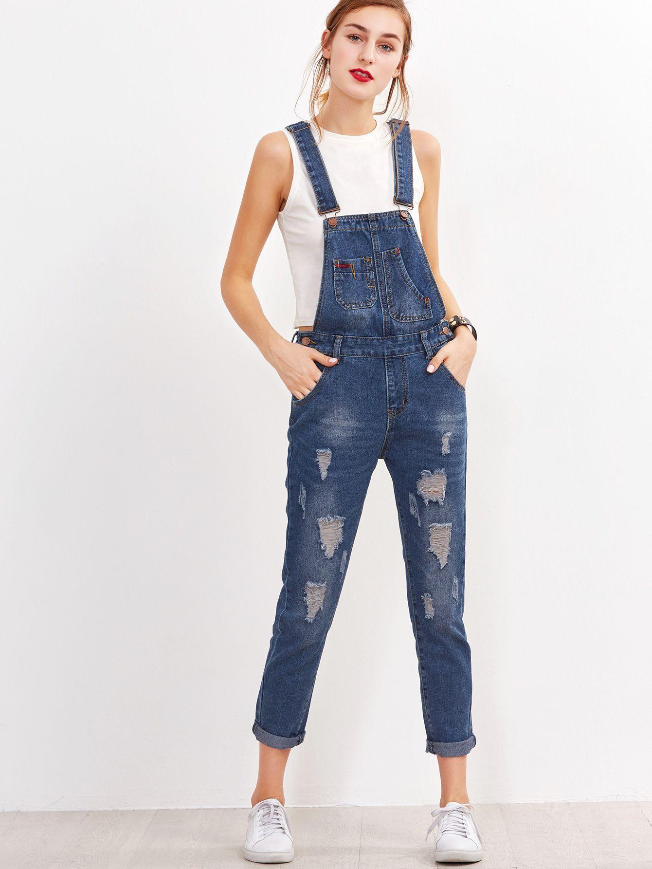 Peto rotos vueltas azul | Jeans de moda, Ropa, Ropa tumblr