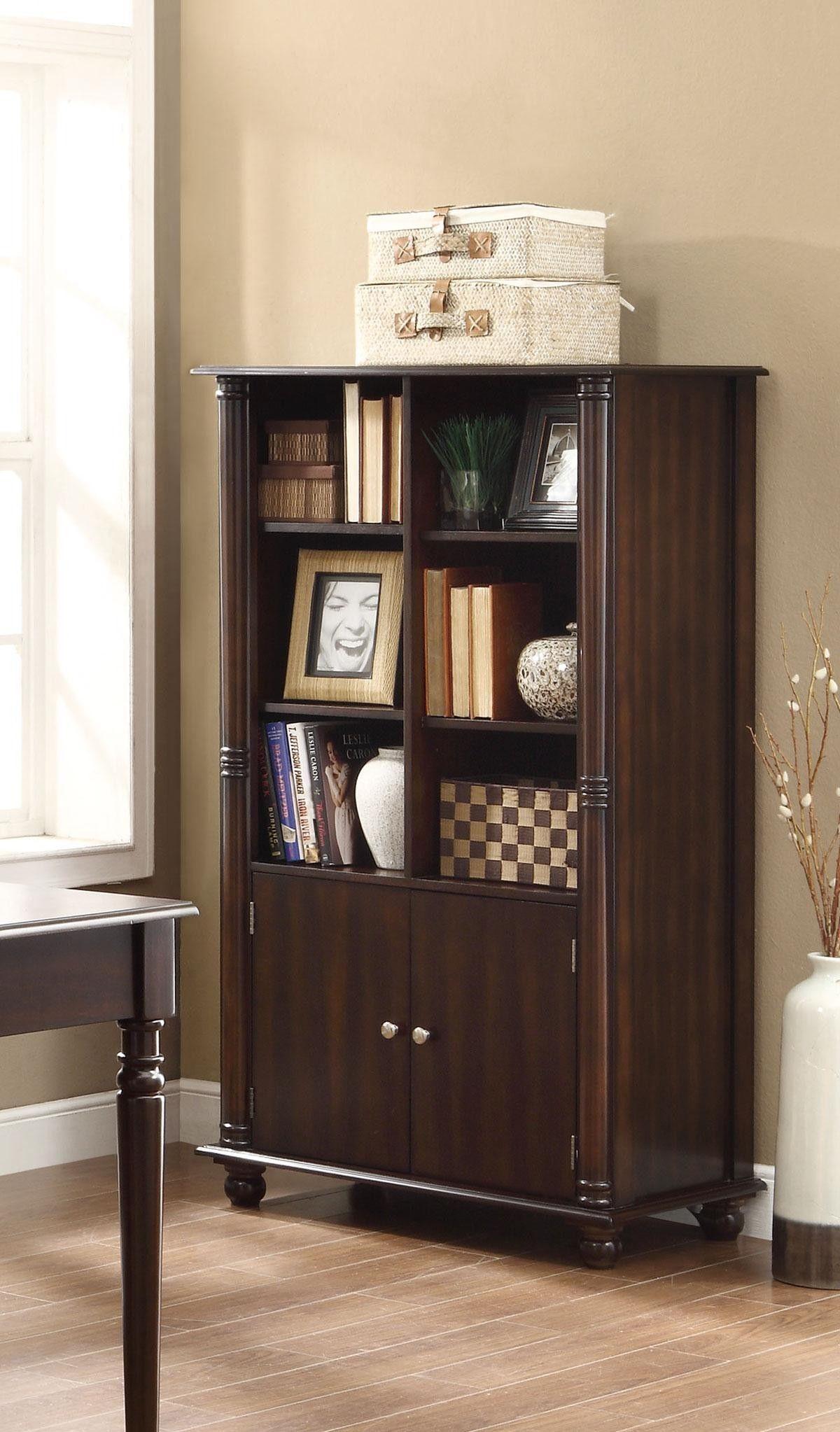 jacqueline three tiered bookshelf with cabinet no place like home rh pinterest com