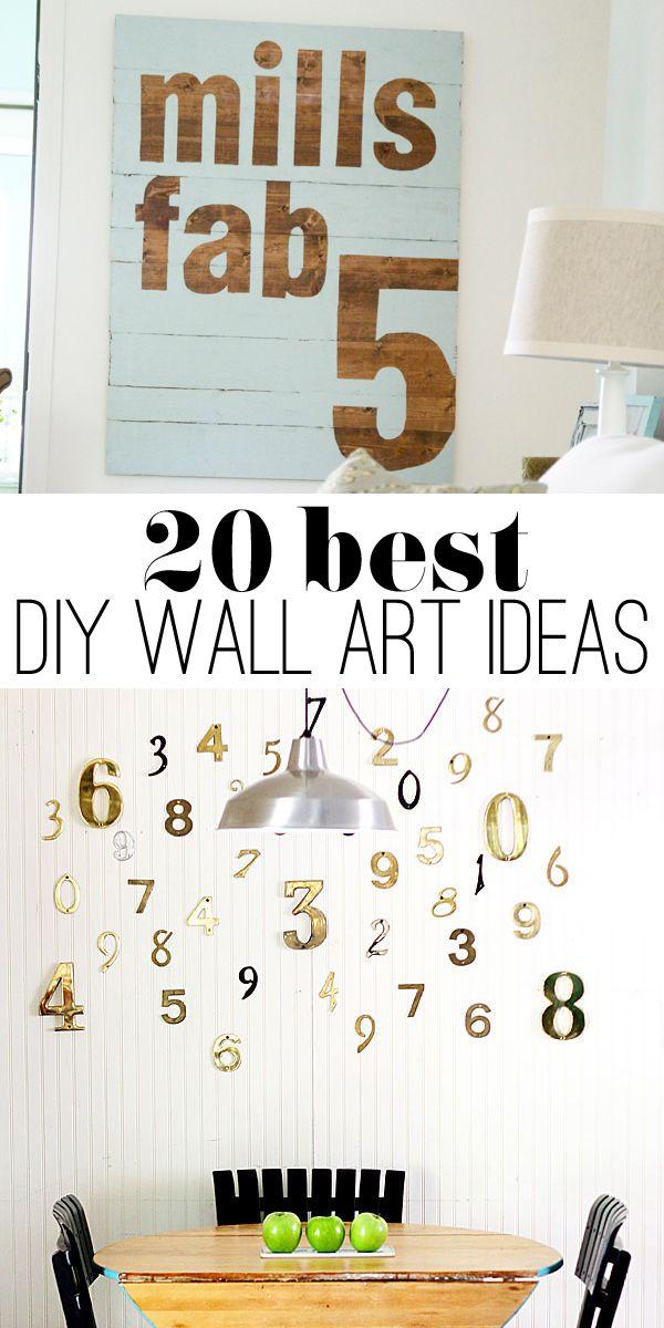 20 Best Diy Art Ideas Diy Wall Diy Wall Art Diy Wall Decor