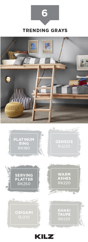 Searching For The Perfect Neutral Paint Color Your Next Diy Home Makeover Project Check Out This Trending Gray Palette From Kilz