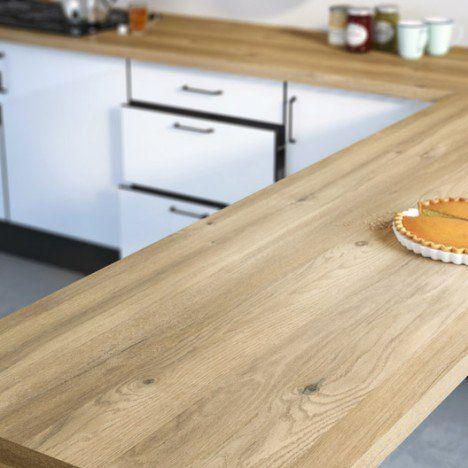 Plan De Travail Stratifie Effet Chene Boreal Mat L 300 X P 65 Cm Ep 38 Mm Meuble Cuisine Plan De Travail Cuisine Et Meuble Cuisine Blanc