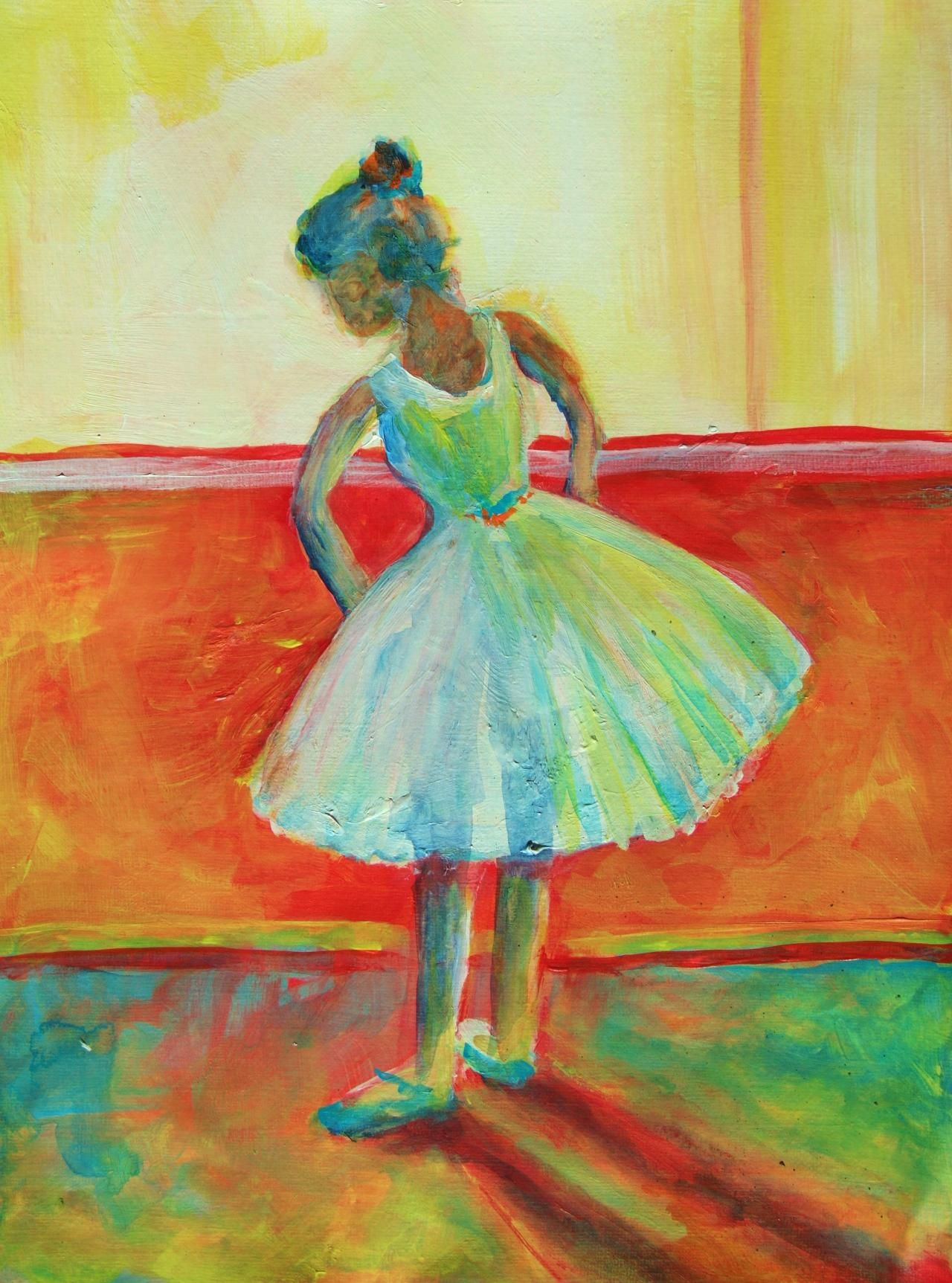 Easy Acrylic Painting My dancing shoes Watercolor