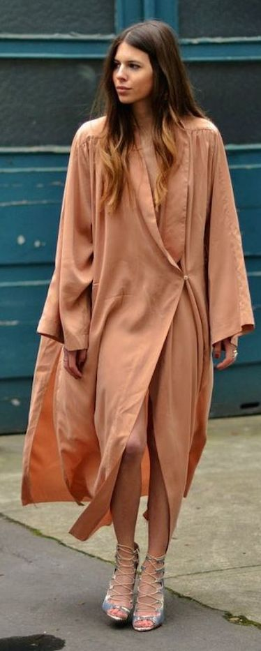 Maja W Y H  Apricot Maxi Dress Outfit Idea by Sabo Skirt