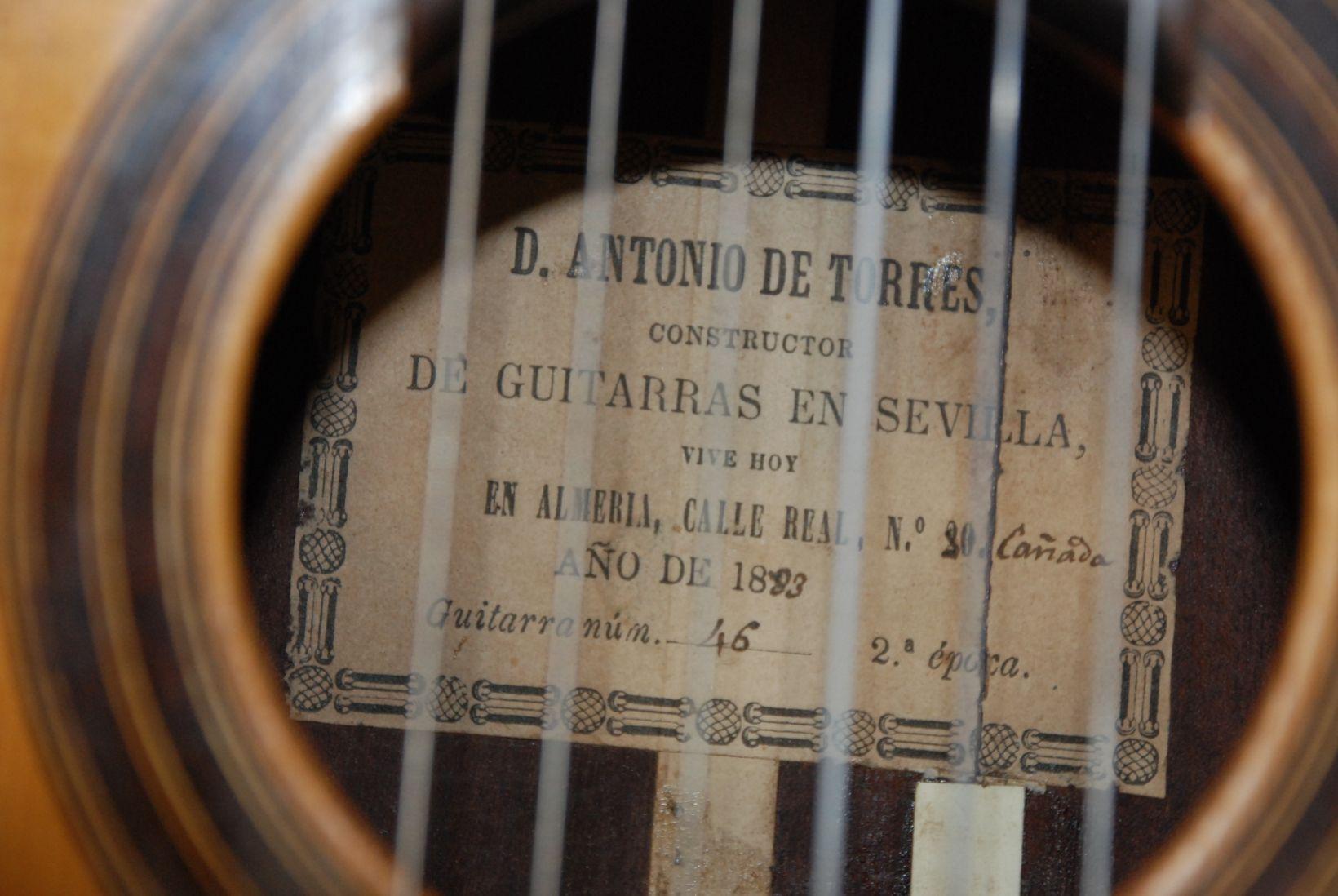 1883 Antonio De Torres Guitar Centro De Documentación Musical De Andalucía Luthiery Guitar Guitar Amp