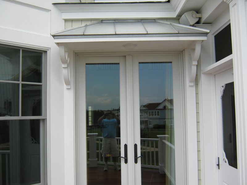 Stainless steel roof over patio door - Stainless Steel Roof Over Patio Door Exterior Details