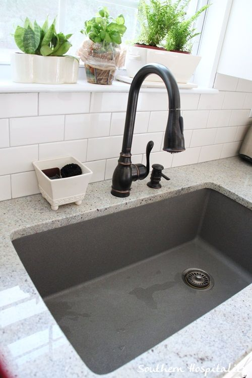 gray kitchen sink island with pull out table ikea renovation cost breakdown for the home pinterest metallic blanco is a silgranit super single in i ordered it from to go