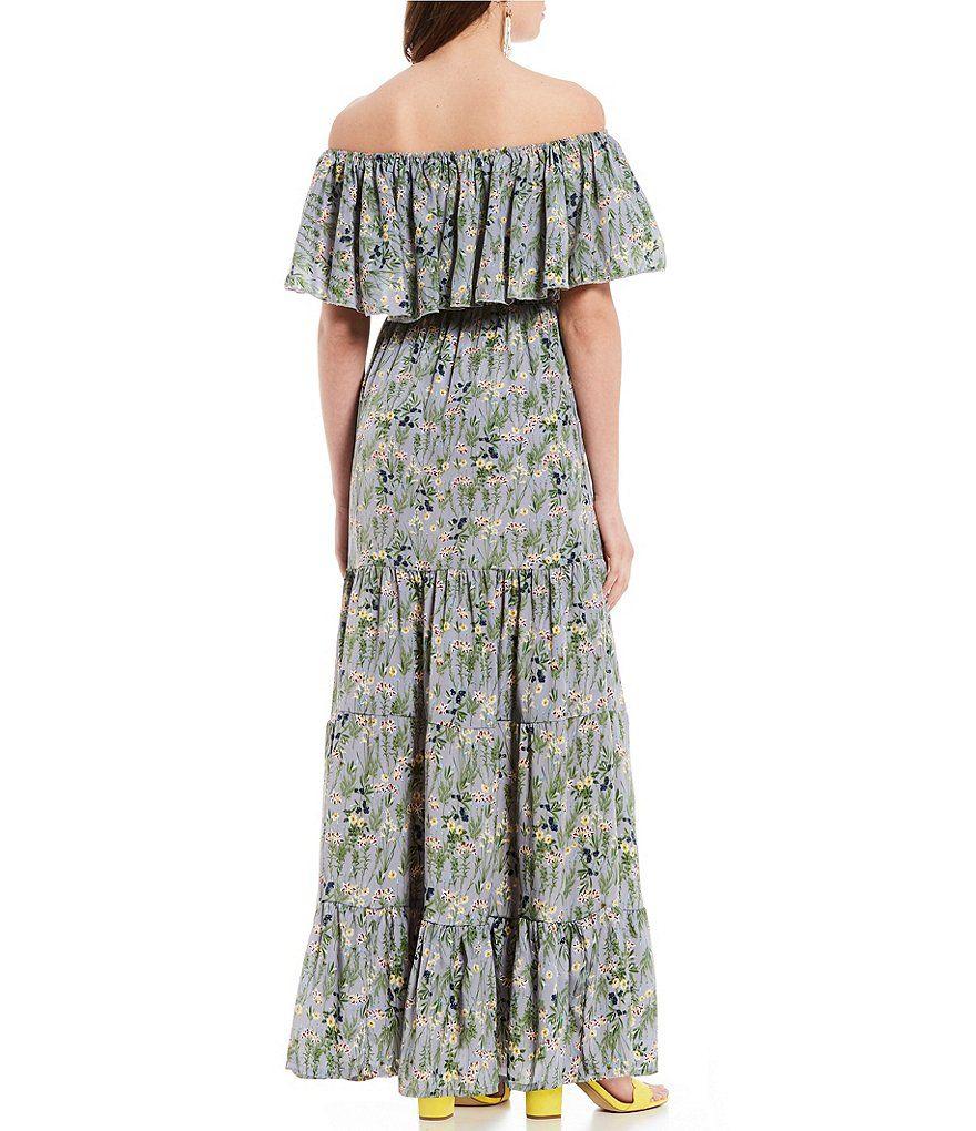 0a6b247d3876 ELAN Off-The-Shoulder Short Sleeve Full Skirt Maxi Dress #Short, #Sleeve, # ELAN