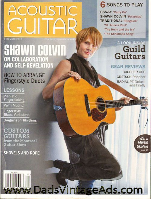 2012 December Acoustic Guitar Magazine Back Issue Guitar Magazine Guild Guitars Acoustic Guitar Magazine