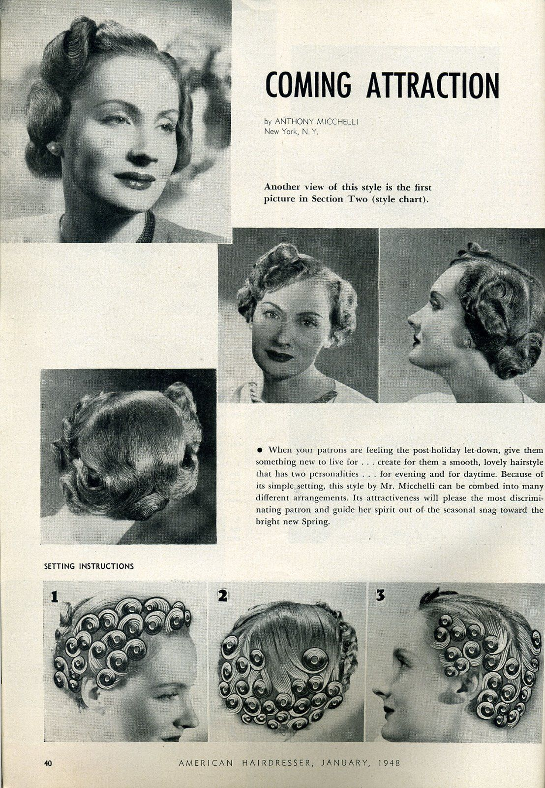 1948 Hairstyle How To Vintage Haircuts Classic Haircut Hairstyles Haircuts
