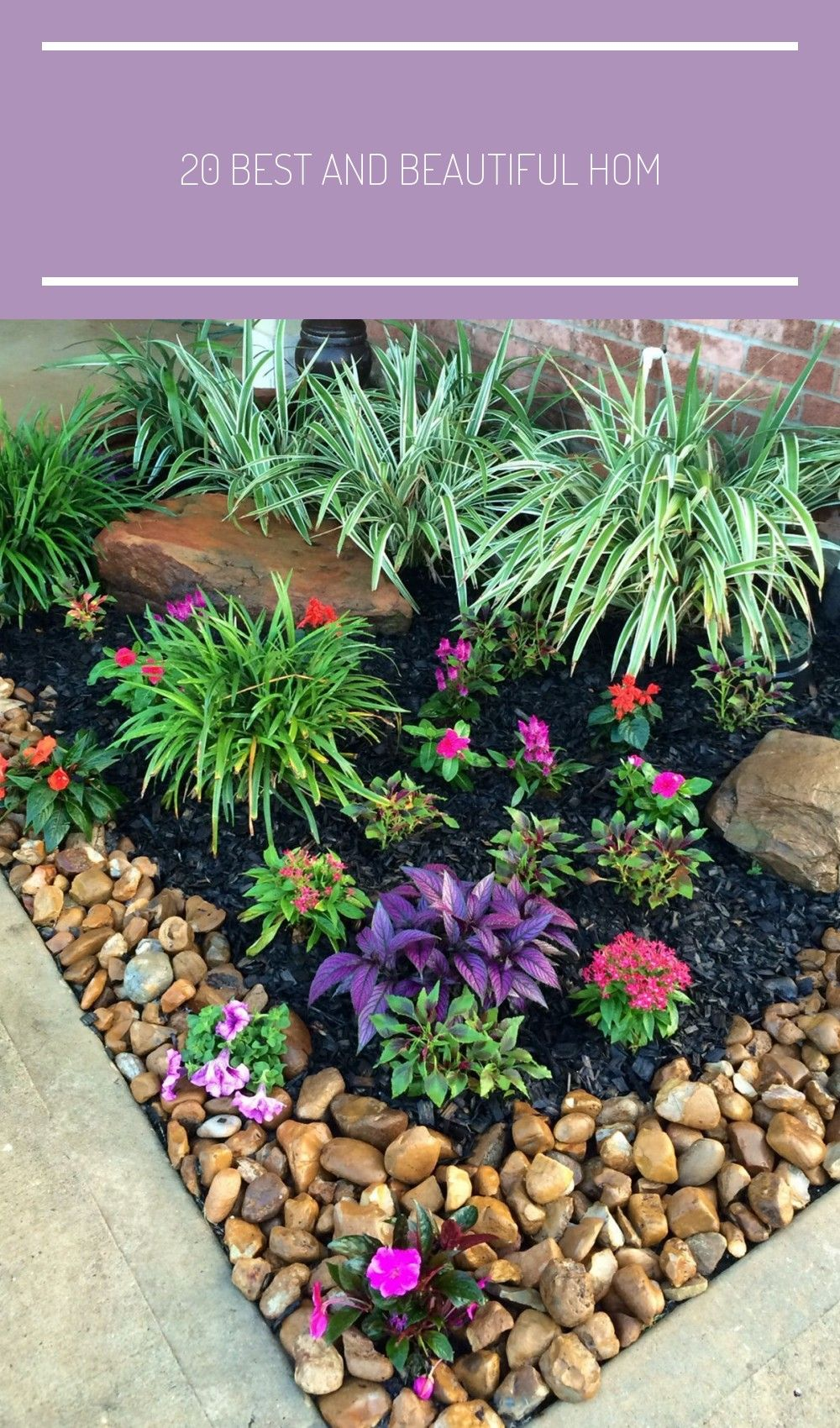 20 Best And Beautiful Home Outdoor Ideas For Enjoying Your Days Rockgardenlandscaping The Beauty Of A Backyard Landscaping Rock Garden Landscaping Front Yard