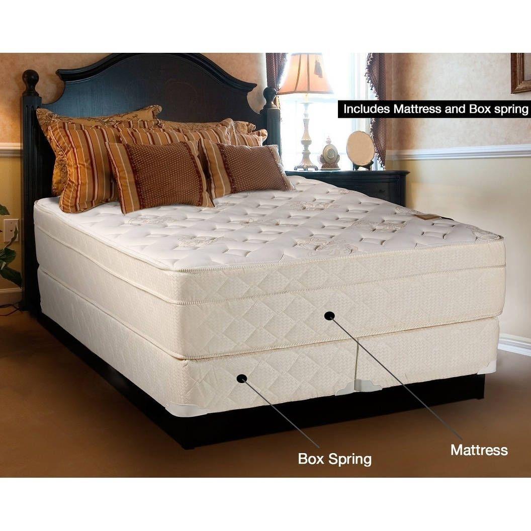 Spring Coil 13 Inch Pillowtop Queen Size Mattress Set White