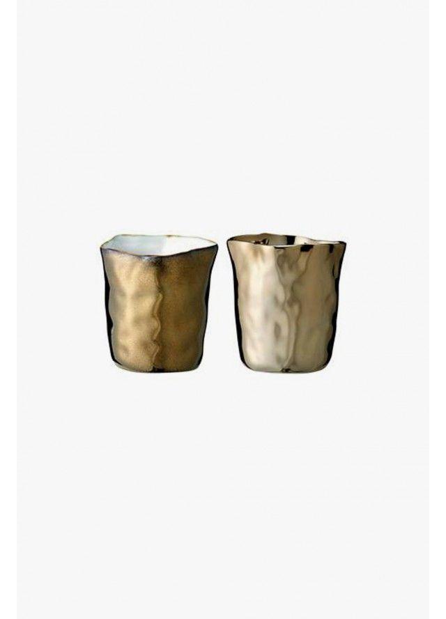 Bloomingville / Champagne Gold & Copper Votives - Set of Two / Candles,Storage,Décor - Superette | Your Fashion Destination.