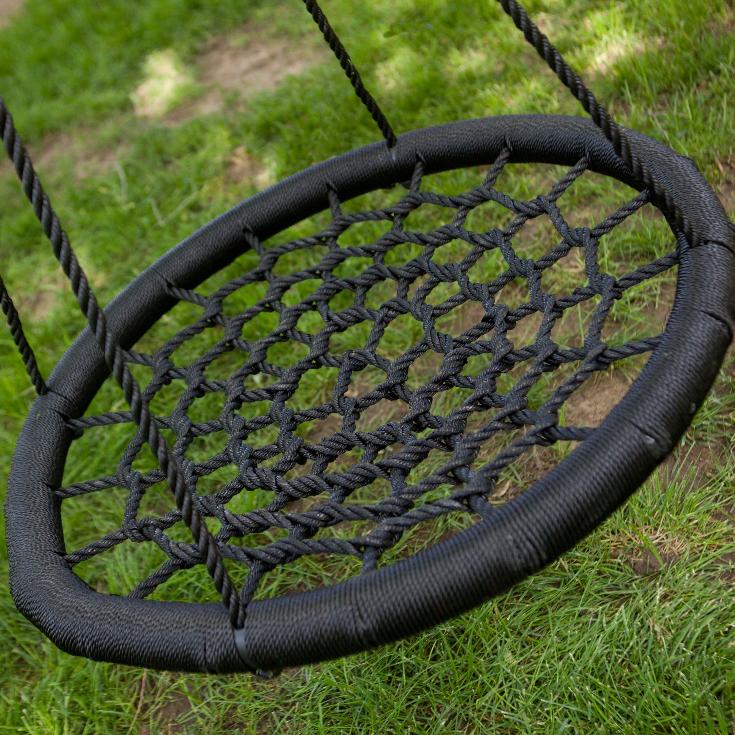 Swing Diy From Trampoline Frame And Rope Backyard
