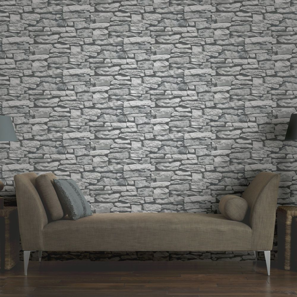 Arthouse VIP Moroccan Stone Wall Brick Photographic Wallpaper