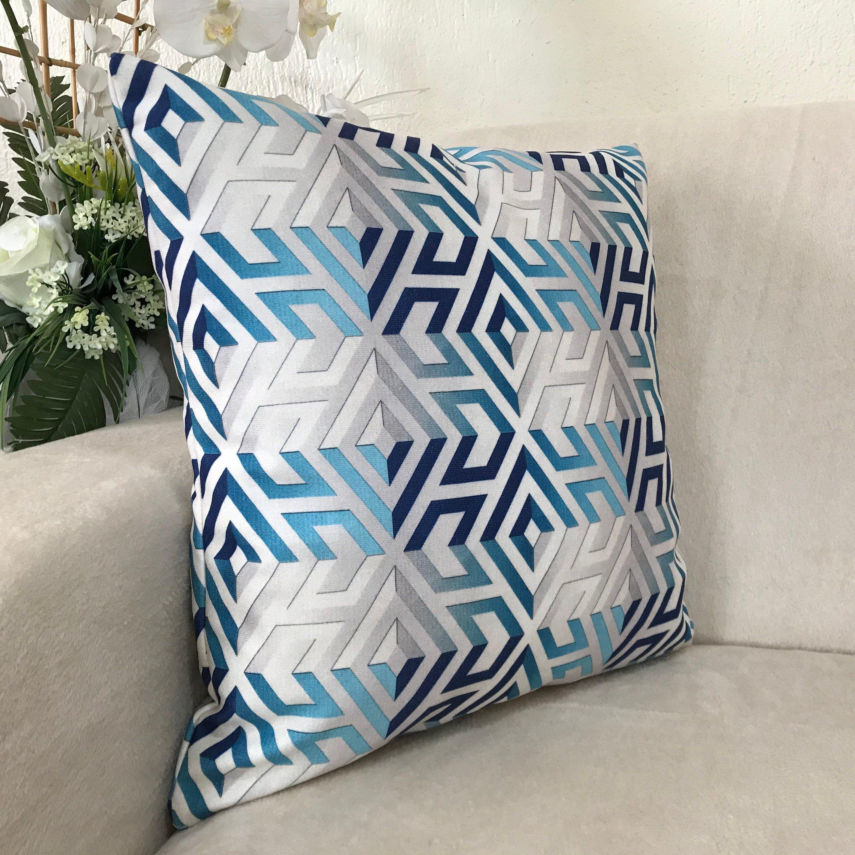 Blue And White Pillow Cover Decorative Cushion Case Velvet Pillow Cover Sofa Decor Headrest Couch Decor Home Design Gift In 2020 Blue And White Pillows White Pillow Covers Pillow Covers