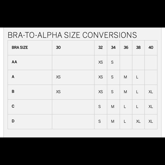 Victoria   secret bralette size chart find the that fits you using this from website other also rh pinterest
