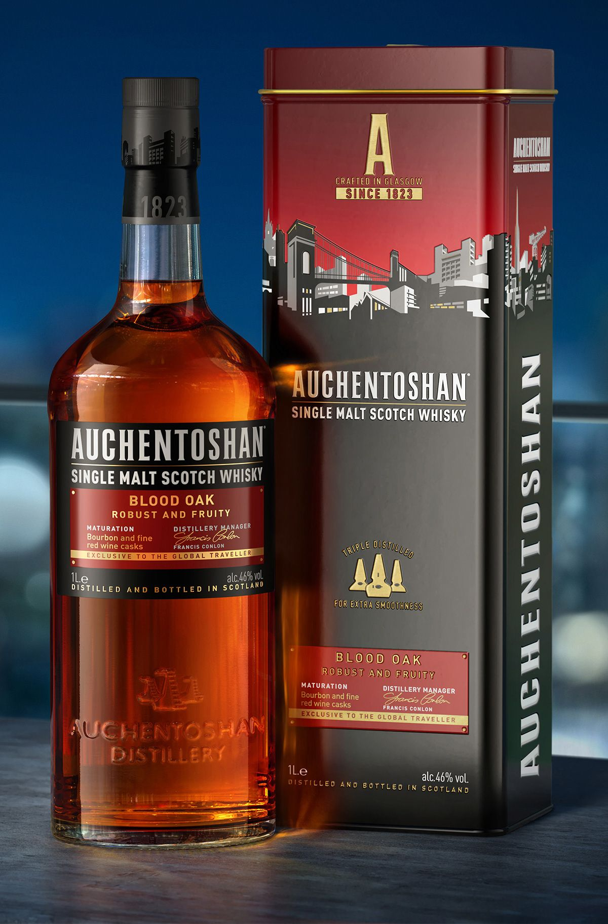 Auchentoshan Range On Behance In 2020 Whiskey Packaging Strong Drinks Whisky