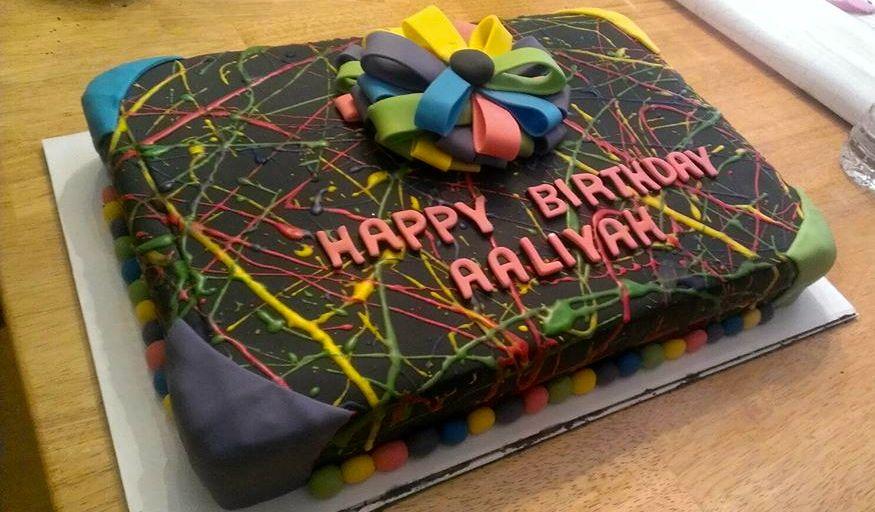 black light party cake 18 birthday behavior Pinterest