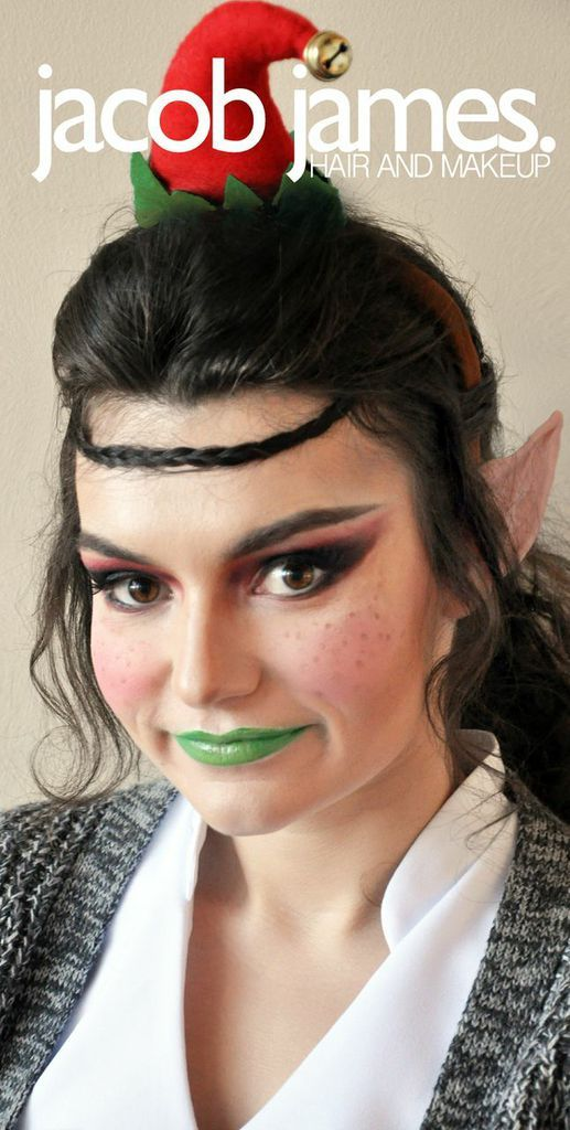 Elven Inspired Hair And Makeup For Christmas Elf Look