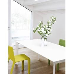 Photo of Kristalia Nori Fenix-ntm® Tisch 100 x 189cm Tischplatte grau Bromo 0724, Beine grau Bromo 0724 lacki