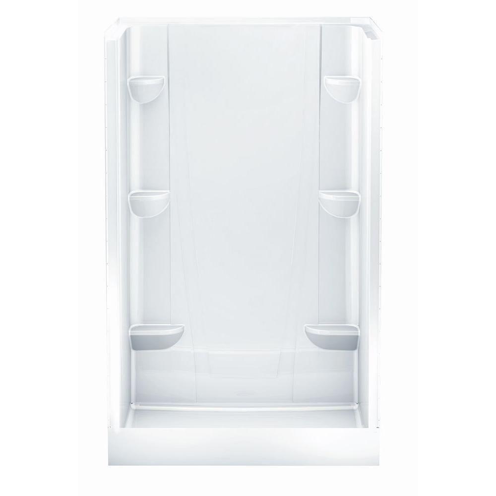 Aquatic a2 34 in x 48 in x 76 in shower stall in white